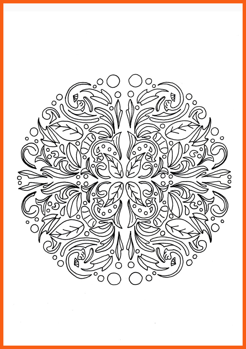 Relaxing mandala adult coloring