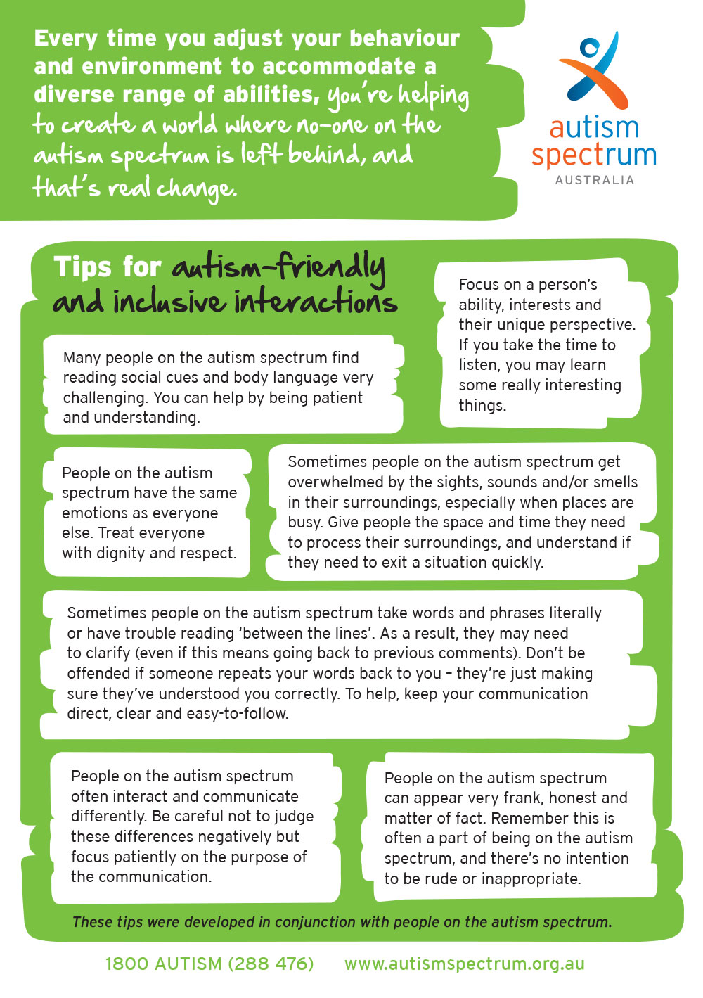 Top Tips Autism